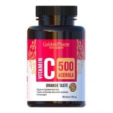 Витамин С с Ацеролой апельсин 500мг №100