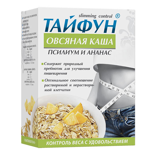 Каша овсяная Тайфун с псиллиумом и ананасом № 5 по 40 г