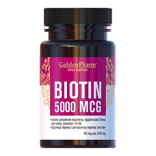 Биотин (Biotin) 5000 мкг капсулы №60